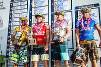 SUNSET BEACH, Oahu/Hawaii (Friday, December 5, 2014): The Vans World Cup of Surfing was  called ON this morning with competition begining with Round 4. <br /> A new NW 6 - 8 foot swell was on hand for the final which built through the day to 10 foot plus by the afternoon.<br /> Four island boys reached the final, three from the islands of Hawaii and one from the islands of tahiti. By the final hooter it was the Tahitian Michel Bourez (PYF) who emerged vitreous with Dusty Payne (HAW) 2nd, Sebastien Zietz (HAW) 3rd and Ian Walsh (HAW) 4th. Photo: joliphotos.com