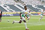 Gladbachs Breel Embolo (vorne) hat soeben zum 2:0 getroffen - hinten jubeln Jonas Hofmann und Matthias Grinter (rechts) -<br /><br />27.06.2020, Fussball, 1. Bundesliga, Saison 2019/2020, 34. Spieltag, Borussia Moenchengladbach - Hertha BSC Berlin,<br /><br />Foto: Johannes Kruck/POOL / via / Meuter/Nordphoto<br />Only for Editorial use
