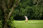 SINGAPORE - MARCH 07:  Juli Inkster of the USA plays her second shot on the par four 4th hole during the third round of HSBC Women's Champions at the Tanah Merah Country Club on March 7, 2009 in Singapore. Photo by Victor Fraile / The Power of Sport Images