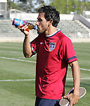 Pablo Mastroeni on Monday, April 10th, 2006 at SAS Stadium in Cary, North Carolina. The United States Men's National Team practiced the day before playing an international friendly against Jamaica.