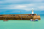 Sea and Light house at St Ives