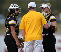 NWA Democrat-Gazette/ANDY SHUPE<br /> Arkansas Wichita State Wednesday, April 10, 2019, during the inning at Bogle Park in Fayetteville. Visit nwadg.com/photos to see more photographs from the game.