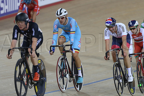 05.03.2016. Lee Valley Velo Centre, London England. UCI Track Cycling World Championships Mens Points Race.  DE KETELE Kenny (BEL)