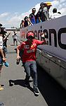 12.05.2019, Circuit de Catalunya, Barcelona, FORMULA 1 EMIRATES GRAN PREMIO DE ESPAÑA 2019<br /> , im Bild<br />Sebastian Vettel (GER#5), Scuderia Ferrari Mission Winnow springt vom LKW der Fahrerparade<br /> <br /> Foto © nordphoto / Bratic