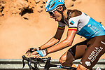 Oliver Naesen (BEL) AG2R La Mondiale climbs towards the finish of Stage 5 of the 10th Tour of Oman 2019, running 152km from Samayil to Jabal Al Akhdhar (Green Mountain), Oman. 20th February 2019.<br /> Picture: ASO/K&aring;re Dehlie Thorstad | Cyclefile<br /> All photos usage must carry mandatory copyright credit (&copy; Cyclefile | ASO/K&aring;re Dehlie Thorstad)