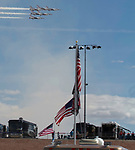 Pennzoil 400 at Las Vegas Motor Speedway  PHOTO.  # Nellis Airforce Thunderbirds do flyover during opening ceremonies