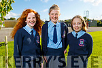 Máire O'Connor, Kerry Ann Moore and Ashley Baxter graduating from Ardfert NS on Thursday.