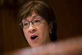 United States Senator Susan Collins (Republican of Maine) questions US Attorney General William P. Barr during the US Senate Committee on Appropriations Appropriations Subcommittee on Commerce, Justice, Science, and Related Agencies on Capitol Hill in Washington, DC on April 10, 2019.<br /> Credit: Stefani Reynolds / CNP