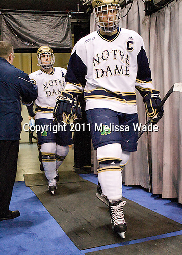 Ryan Guentzel (Notre Dame - 27), Joe Lavin  (Notre Dame - 33) - The University of Notre Dame Fighting Irish defeated the University of New Hampshire Wildcats 2-1 in the NCAA Northeast Regional Final on Sunday, March 27, 2011, at Verizon Wireless Arena in Manchester, New Hampshire.