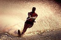Slalom, water sports, speed , fun, splash, pull. United States.