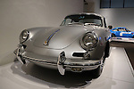 1964 Type 356C Carrera 2 Coupe from the Ingram Collection. This C2 features the optional sunroof and chrome wheels. The Porsche By Design show at the North Carolina Museum of Art in Raleigh, North Carolina on January 23, 2014.