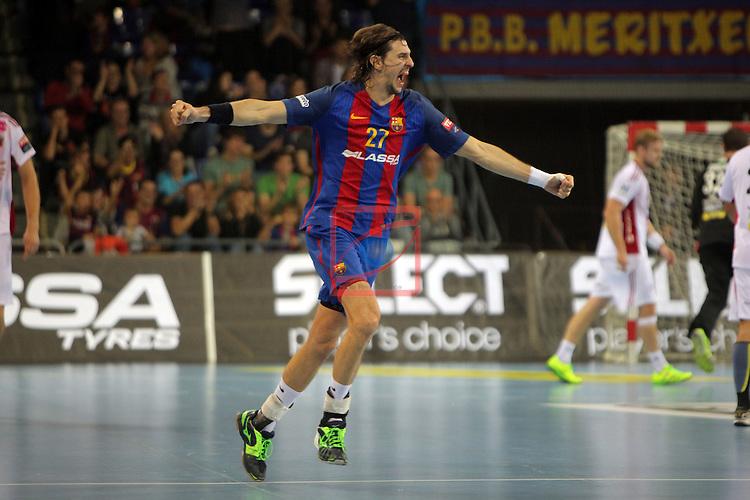 VELUX EHF <br /> 2016/17 EHF Men's Champions League Group Phase - Round 5.<br /> FC Barcelona Lassa vs Telekom Veszprem: 26-23.<br /> Viran Morros.