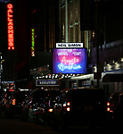 Theatre Marquee for 'Angels in America' Broadway Opening Night at the Neil Simon Theatre on March 25, 2018 in New York City.