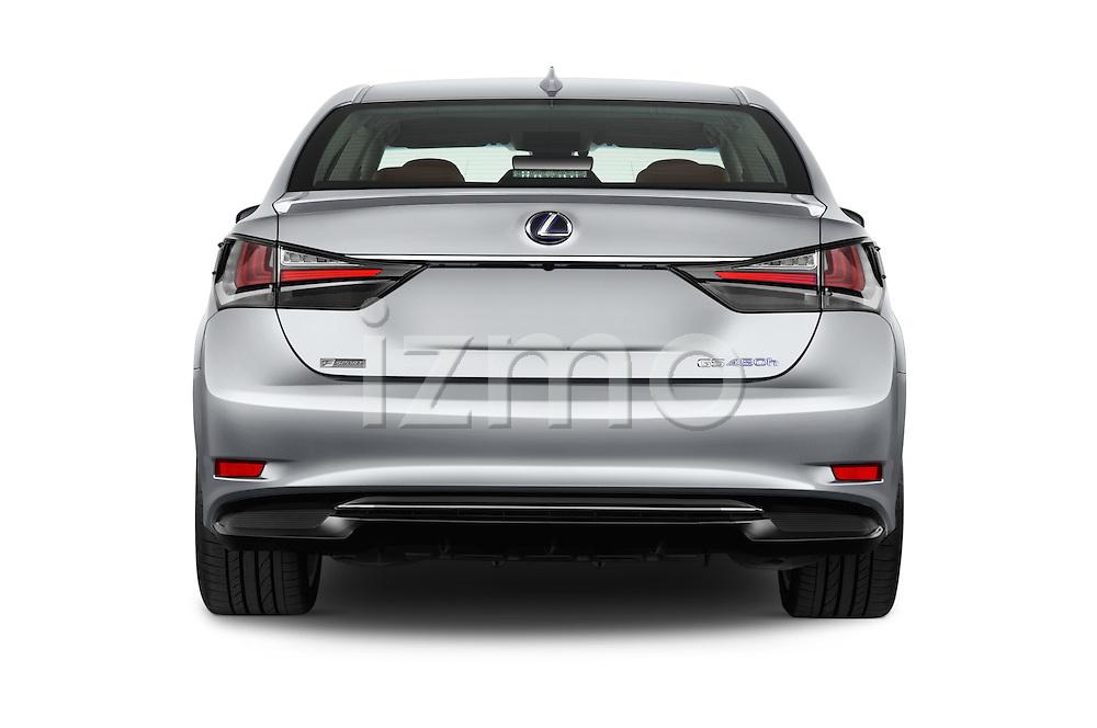 Straight rear view of 2016 Lexus GS F-Sport-RWD 4 Door Sedan Rear View  stock images