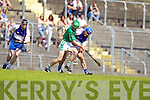 Paud Costello Ballyduff v Sean FlahertySt Brendans in the Round Two Senior Hurling County Chamionshio at Austin Stack Park in Tralee.