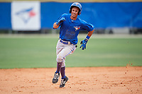 Toronto Blue Jays Kevin Vicuna (58) during a Minor League Spring Training Intrasquad game on March 31, 2018 at Englebert Complex in Dunedin, Florida.  (Mike Janes/Four Seam Images)