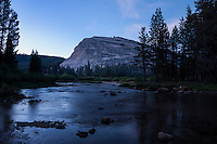 Lembert dome rises above Lyell fork of Tuolumne river, Yosemite national park, California, USA