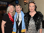 Eddie Thornton celebrating his 75th birthday with his wife Nuala and Carol Farrelly in The Cottage Inn Laytown. Photo:Colin Bell/pressphotos.ie