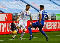 Leeds United's Mateusz Klich plays a ball round Wigan Athletic's Antonee Robinson<br /> <br /> Photographer Alex Dodd/CameraSport<br /> <br /> The EFL Sky Bet Championship - Wigan Athletic v Leeds United - Sunday 4th November 2018 - DW Stadium - Wigan<br /> <br /> World Copyright &copy; 2018 CameraSport. All rights reserved. 43 Linden Ave. Countesthorpe. Leicester. England. LE8 5PG - Tel: +44 (0) 116 277 4147 - admin@camerasport.com - www.camerasport.com