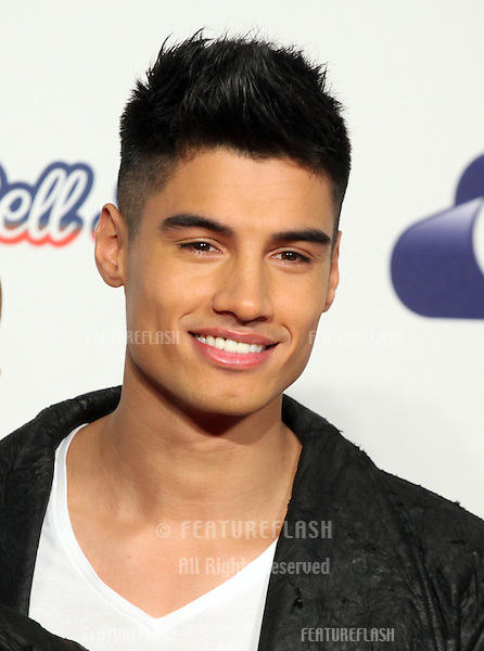 Siva Kaneswaran from The Wanted arriving for the Capital Radio Jingle Bell Ball, O2 Arena, London. 09/12/2012 Picture by: Alexandra Glen / Featureflash