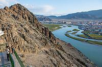 Mongolia, Bayan-Ulgii, Ulgii, view.