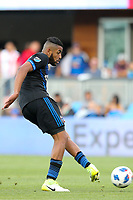 San Jose, CA - Saturday March 31, 2018: Anibal Godoy during a Major League Soccer (MLS) match between the San Jose Earthquakes and New York City FC at Avaya Stadium.