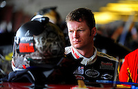 Aug. 8, 2009; Watkins Glen, NY, USA; NASCAR Sprint Cup Series driver Dale Earnhardt Jr during practice for the Heluva Good at the Glen. Mandatory Credit: Mark J. Rebilas-