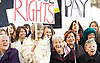 Women from the original Dagenham equal pay strike and Stars from cast of hit musical 'Made in Dagenham' at House of Commons for Pay Transparency vote<br /> <br /> 16th December 2014 <br /> outside Parliament <br /> <br /> Parliament will next week vote on the implementation of section 78 of the Equality Act (2010) to require large companies to publish their pay gap. <br /> <br /> Eileen Pullen <br /> <br /> Gloria De Piero MP<br /> <br /> Gemma Arterton <br /> actress currently appearing in made in Dagenham <br /> <br /> Vera Sime.<br /> <br /> <br /> <br /> Sheila Douglass<br /> <br /> <br /> <br /> <br /> Photograph by Elliott Franks <br /> Image licensed to Elliott Franks Photography Services