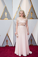 Elisabeth Moss arrives on the red carpet of The 90th Oscars&reg; at the Dolby&reg; Theatre in Hollywood, CA on Sunday, March 4, 2018.<br /> *Editorial Use Only*<br /> CAP/PLF/AMPAS<br /> Supplied by Capital Pictures