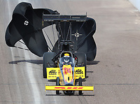 Feb 24, 2019; Chandler, AZ, USA; NHRA top fuel driver Richie Crampton during the Arizona Nationals at Wild Horse Pass Motorsports Park. Mandatory Credit: Mark J. Rebilas-USA TODAY Sports