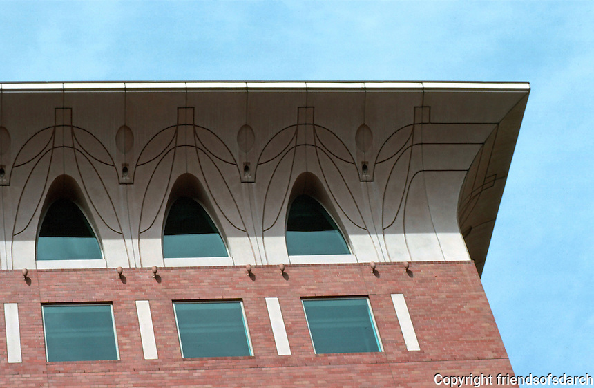 Boston:  One Bowdoin Square--cornice.  Graham Gund, Architect.  Cornice consists of 39 panels of GFRC: glass fiber reinforced concrete.