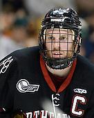 Tyler McNeely (Northeastern - 94) - The Boston College Eagles defeated the Northeastern University Huskies 5-4 in their Hockey East Semi-Final on Friday, March 18, 2011, at TD Garden in Boston, Massachusetts.