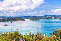 Bay of Islands seen from Flagstaff Hill in Russell, Northland Region, North Island, New Zealand