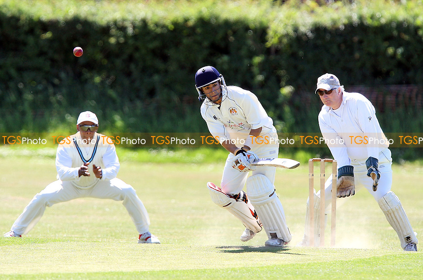 S Samaskera of Hornchurch Athletic holes out as he is caught and bowled by J Plater of Noak Hill - Noak Hill Taverners CC vs Hornchurch Athletic CC 2nd XI - Lords Internatioanl Cricket League - 30/05/09 - MANDATORY CREDIT: Gavin Ellis/TGSPHOTO - Self billing applies where appropriate - 0845 094 6026 - contact@tgsphoto.co.uk - NO UNPAID USE.