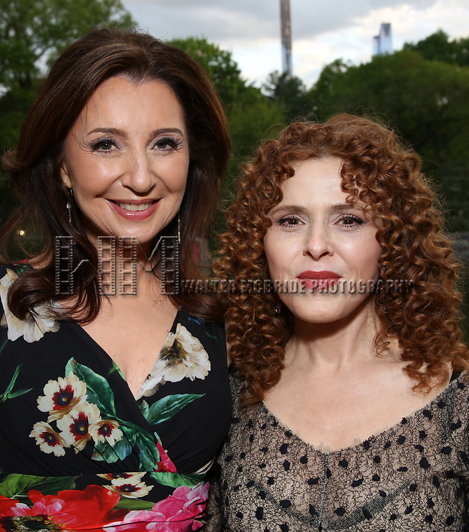 Donna Murphy and Bernadette Peters attends the Urban Stages' 35th Anniversary celebrating Women in the Arts at the Central Park Boat House on May 15, 2019 in New York City.