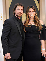 HOLLYWOOD, CA - MARCH 2: Christian Bale, Sibi Blazic  arriving to the 2014 Oscars at the Hollywood and Highland Center in Hollywood, California. March 2, 2014. Credit: SP1/Starlitepics. /NORTePHOTO