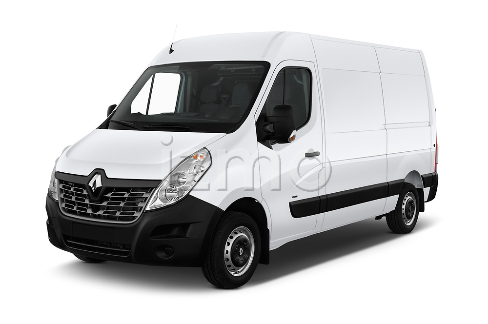 2019 Renault Master-Z.E. Base 4 Door Cargo Van angular front stock photos of front three quarter view