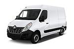 2019 Renault Master-Z.E. Base 4 Door Cargo Van angular front stock photos of front three quarter view