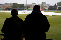 Spectators look on as rain delays the start of play during Essex CCC vs Middlesex CCC, Specsavers County Championship Division 1 Cricket at The Cloudfm County Ground on 27th June 2017