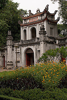 Gateway to Temple of Literature in central Hanoi,Vietnam