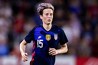 5th March 2020, Orlando, Florida, USA;  the United States forward Megan Rapinoe (15) during the SheBelieves Cup match between England and the USA on March 5, 2020, at Exploria Stadium in Orlando FL.