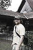 Portrait of Zak outside Seri Melayu restaurant in Kuala Lumpur where he worked in the late 1990's..