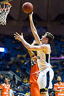 Morgantown, WV - NOV 18, 2017: West Virginia Mountaineers guard Daxter Miles Jr. (4) shoots a basket during game between West Virginia and Morgan State at WVU Coliseum Morgantown, West Virginia. (Photo by Phil Peters/Media Images International)