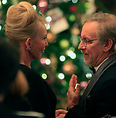 Trudie Styler ,wife of Sting and Steven Spielberg  at the reception in the East Room of the White House in Washington, D.C. for the  37th Kennedy Center  Honorees on Sunday, December 7, 2014.<br /> Credit: Dennis Brack / Pool via CNP