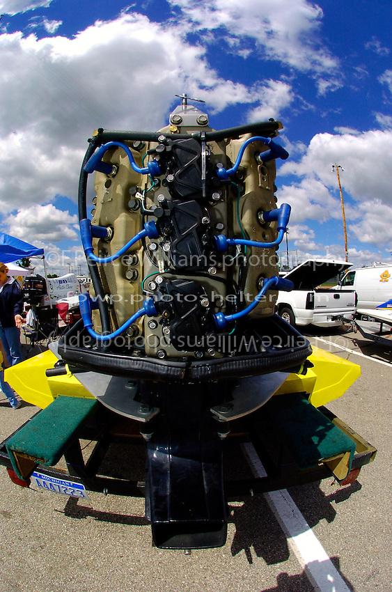 A V-6 Mercury F1 engine..2004 Bay City River Roar, Bay City, MI USA 26-27 June, 2004..F.Peirce Williams .photography.P.O.Box 455  Eaton,OH 45320 USA.p: 317.358.7326  e: fpwp@mac.com