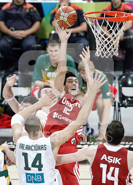 Turkey's Kerem Gonlum during 2014 FIBA Basketball World Cup Quarter-Finals match.September 9,2014.(ALTERPHOTOS/Acero)