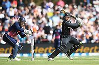 Martin Guptill.<br /> New Zealand Blackcaps v England. 5th ODI International one day cricket, Hagley Oval, Christchurch. New Zealand. Saturday 10 March 2018. &copy; Copyright Photo: Andrew Cornaga / www.Photosport.nz