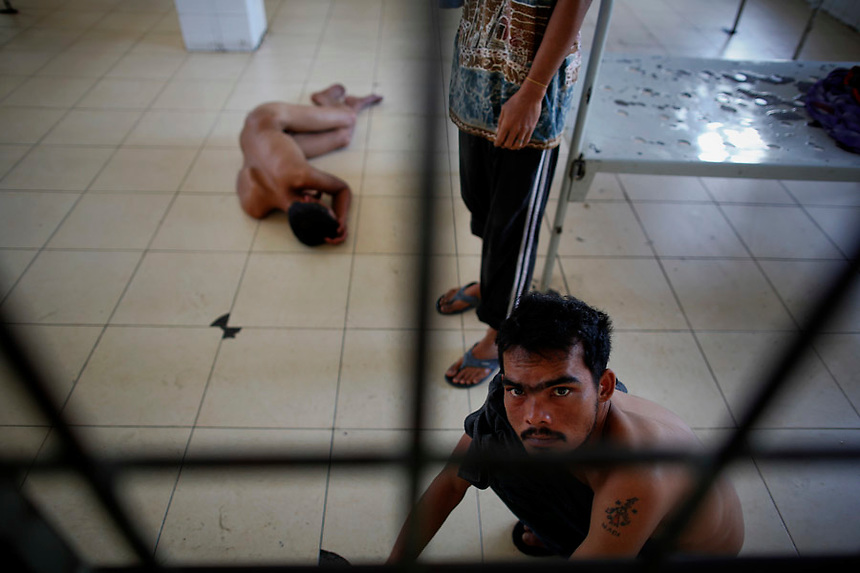Acute patients are locked in a room at a mental hospital in Banda ...