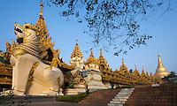 Entrance to the Shwedagon pagoda, Yangon Myanmar