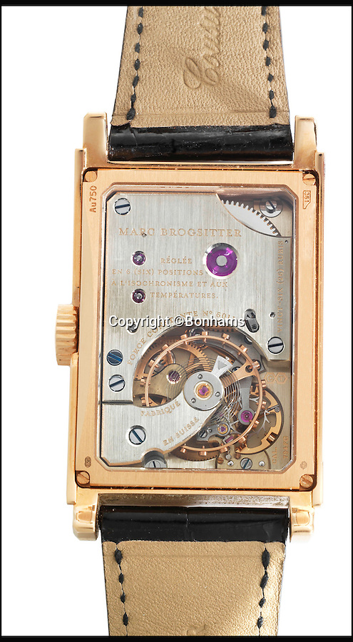 BNPS.co.uk (01202 558833)<br /> Pic: Bonhams/BNPS<br /> <br /> A handmade 8k rose gold manual wind Marc Brogsitter estimated at £7,000.<br /> <br /> An incredible £2million collection of 2,200 watches amassed by one man over six decades is causing a stir in the world of horology as it goes up for auction.<br /> <br /> Dutch nobleman Jan Willem Frederik Baron van Wassenaer had watches spanning more than a century and made by manufacturers for every letter in the alphabet.<br /> <br /> The collection is believed to be the largest ever seen in Europe and is so big it has been split across multiple auctions throughout 2016.<br /> <br /> Fifty important lots from his collection are to be sold by Bonhams in London on June 22 and are expected to fetch £358,000.